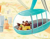 PDX Aerial Tram Print