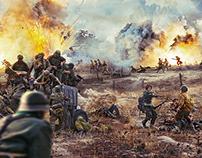 World War 2 Battle field