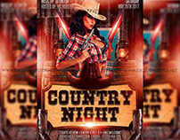 Country Night - Premium A5 Flyer Template
