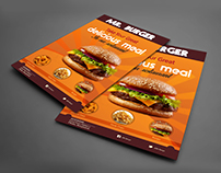 Restaurant Flyer Design | Mockup Freebie