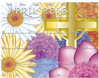 April Calendar Design