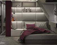 Teenager bedroom Interior