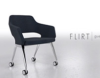 Flirt guest and lounge chair 3D animation