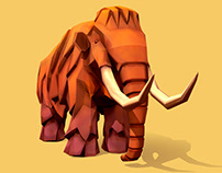 Lowpoly mammoth