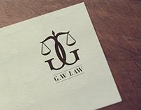 G.W LAW Logo Design.
