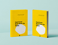 Hard Cover Book Mockup Scene