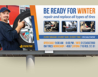 Tire Services Billboard Template
