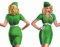 Pinup cutouts for Porta Air Service Germany