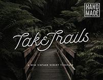 TakeTrails Vintage Script x Sans Typeface