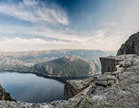 PREIKESTOLEN (PULPIT ROCK) PANORAMA