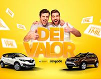 """Campanha Varejo """"Dei Valor"""" Renault Jangada."""