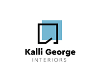 Interior designer concept logo