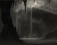 Cave environment explorational sketches