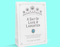 A DAY OF LOVE AND LAUGHTER : WEDDING INVITATION FOR MAY