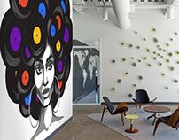 Wall Murals - mock-up interiors