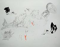 dessin d'après l'oeuvre de Pierre Huyghe 1