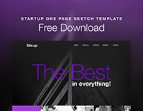 Startup One Page Sketch Template Free Download