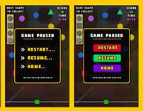 Game Paused Panel Design 2D Art UI