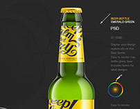 Beer Bottle. Mockup.