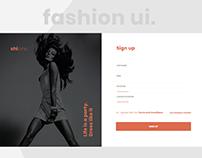Sign up page ui design.