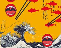 Subenshi Sushi Postcard Design
