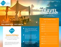 Jazeera Airways Holidays - UI UX Design
