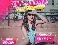 Sportsgear Instagram ad banner