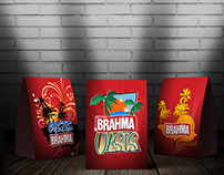 Brahma beer Promotion stand up cards and banners