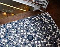 Bespoke kaleidoscope rug