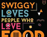 Swiggy Menu Card @ Bacardi NH7 Weekender