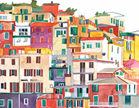 watercolors of famous cities