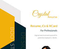 Crystal - Creative Resume, CV and Portfolio HTML Templa