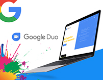 Google Duo Landing Page Concept