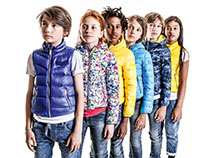 Light down jacket glossy prints / Diesel Kid