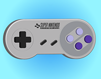 [VECTOR] Super Nintendo Controller in Vector Art