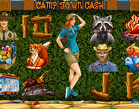 "Slot machine ""Camptown cash"""