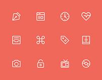 Basic Line Icons