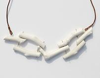 Ceramic Jewelry: Tree Necklace