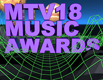 Cinema 4d- Presentacion MTV Music Awards 2018