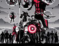 AVENGERS: ENDGAME Red Poster Art