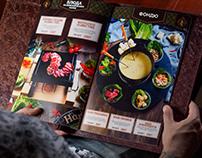 Menu for Sherlock's Pub (photo, food styling, design)
