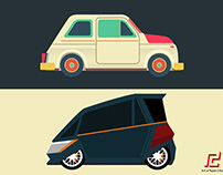 COMPACT CAR CONCEPT ILLUSTRATIONS