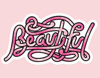 Typographic Stickers (girls age 12-18)
