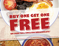 Blighty Cafe Promotional Flyer