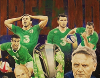 Sports Art - Ireland Rugby Union Six Nations