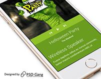 Get Free Material Design App Mockup PSD