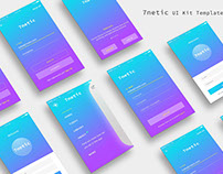 7netic App UI KIT | Gradient Mockup [DOWNLOAD FREE]