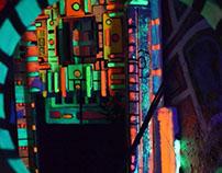 styrofoam -Fluorescence Art Installations