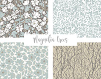 Magnolia trees Collection - Surface Design