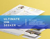 Ultimate Job Seeker Vol. 1 - CV, Business Card Template